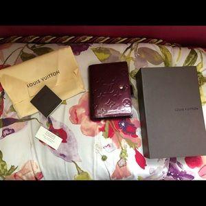Louis Vuitton Monogram Vernis Agenda Wallet